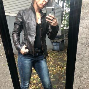 Rustic black moto jacket